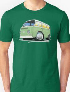 VW Bay Window Camper Van Light Green Unisex T-Shirt