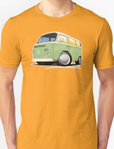VW Bay Window Camper Van Light Green T-Shirt