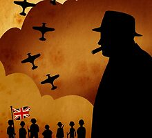 London Series - W. Churchill and the WW2 by Delucienne Maekerr