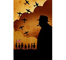 London Series - W. Churchill and the WW2 Photographic Print