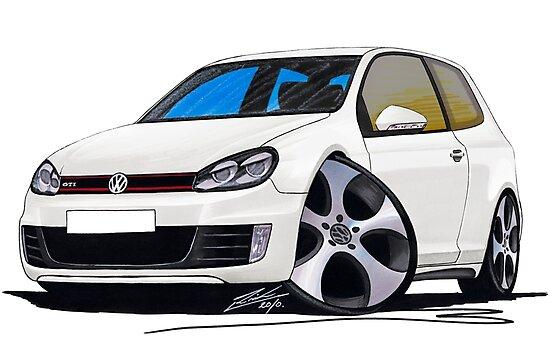 VW Golf GTi (Mk6) White by Richard Yeomans