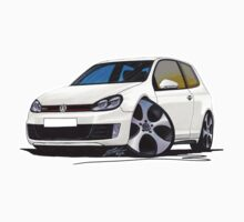 VW Golf GTi (Mk6) White T-Shirt