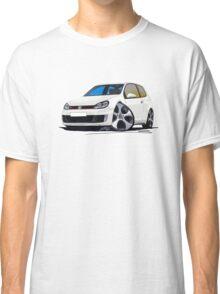 VW Golf GTi (Mk6) White Classic T-Shirt
