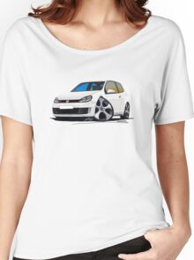 VW Golf GTi (Mk6) White Women's Relaxed Fit T-Shirt