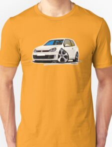 VW Golf GTi (Mk6) White Unisex T-Shirt