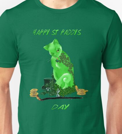 St. Paddys Day Kitty Unisex T-Shirt