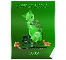 St. Paddys Day Kitty Poster