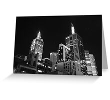 Melbourne @ night Greeting Card