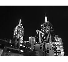 Melbourne @ night Photographic Print