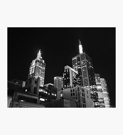 Melbourne @ night Photographic Print