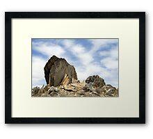 Oro Grande Rocks Framed Print