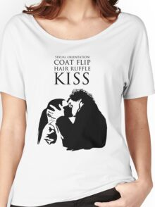 Sherlock and Molly Kiss Women's Relaxed Fit T-Shirt