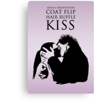 Sherlock and Molly Kiss Canvas Print