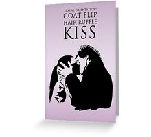 Sherlock and Molly Kiss Greeting Card
