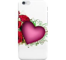 Heart with Roses iPhone Case/Skin