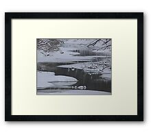 Winter Water Framed Print