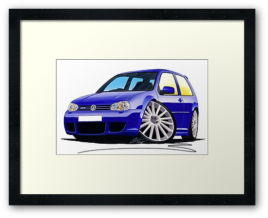 VW Golf (Mk4) R32 Blue by Richard Yeomans