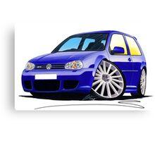 VW Golf (Mk4) R32 Blue Canvas Print