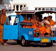 Monks And Tuk Tuk by Dave Lloyd