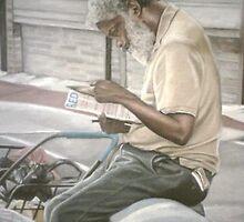 Man reading, homeless series by Nathaniel (nick)  crump