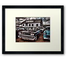 Nothing But Sky and Chevy's 2 Framed Print