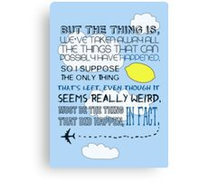 Martin Crieff Quote Canvas Print