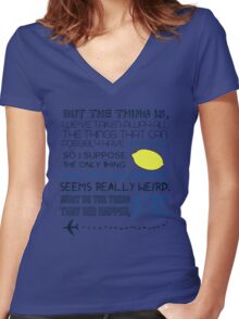 Martin Crieff Quote Women's Fitted V-Neck T-Shirt