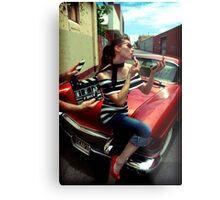 Lights Camera Action Metal Print
