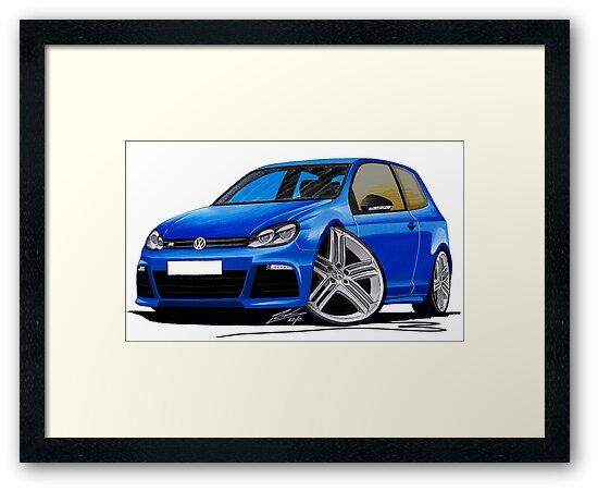 VW Golf R Blue by Richard Yeomans