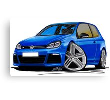VW Golf R Blue Canvas Print