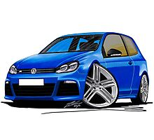 VW Golf R Blue Photographic Print