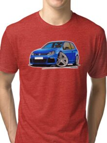 VW Golf R Blue Tri-blend T-Shirt