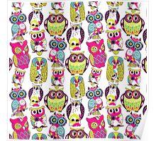 Neon Owls Poster