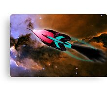 A Cruiser Interceptor on Patrol at the Fairy of Eagle Nebula Canvas Print