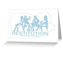Restitution Greeting Card