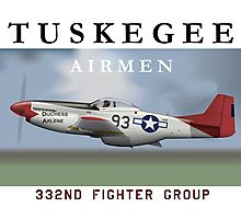 P-51D Mustang, Tuskegee Airmen Photographic Print