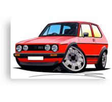VW Golf GTi (Mk1) Red Canvas Print