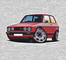 VW Golf GTi (Mk1) Red Kids Tee