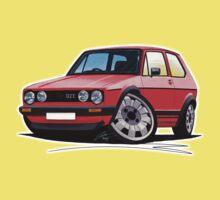 VW Golf GTi (Mk1) Red Kids Clothes
