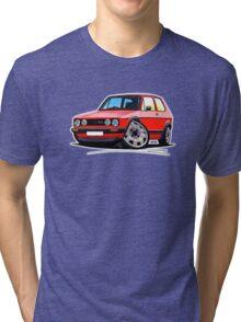 VW Golf GTi (Mk1) Red Tri-blend T-Shirt