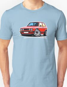 VW Golf GTi (Mk1) Red Unisex T-Shirt