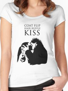 Sherlock and Molly Kiss II Women's Fitted Scoop T-Shirt
