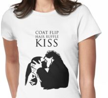 Sherlock and Molly Kiss II Womens Fitted T-Shirt