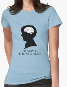 Brainy Is The New Sexy Womens Fitted T-Shirt