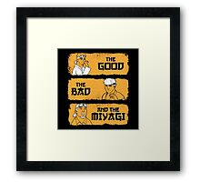 The Good, The Bad, And The Miyagi Framed Print
