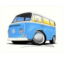VW Bay (Early) Light Blue Art Print