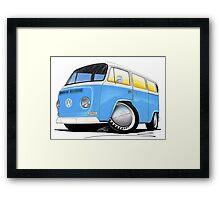 VW Bay (Early) Light Blue Framed Print