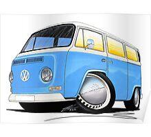 VW Bay (Early) Light Blue Poster