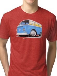 VW Bay (Early) Light Blue Tri-blend T-Shirt