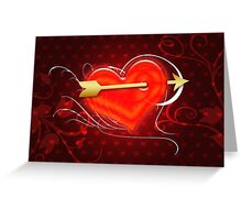 Heart and arrow 2 Greeting Card